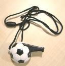 Fußball-Trillerpfeife mit weißem Band
