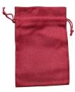 Jute-Säckchen fein, rot, 15 x 10 cm
