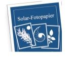 Solar-Fotopapier 10 Blatt 21,5 x 28 cm, gut für Kinder geeignet