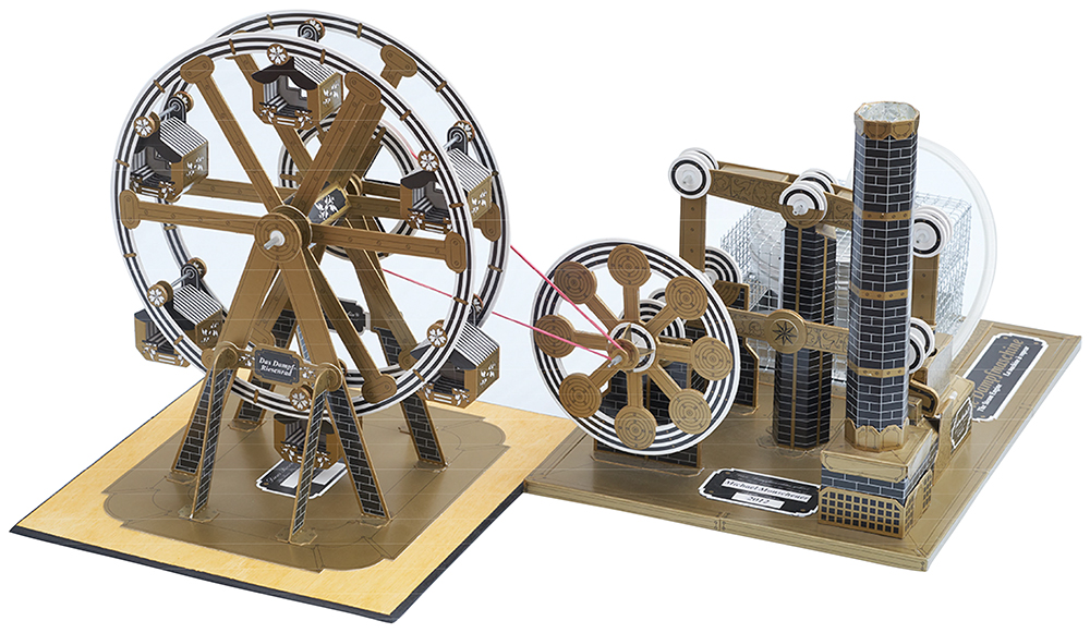 Astromedia Die Dampfmaschine Kartonbausatz